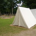 An army tent, 6 men to a tent.