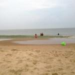 Running on the beach.
