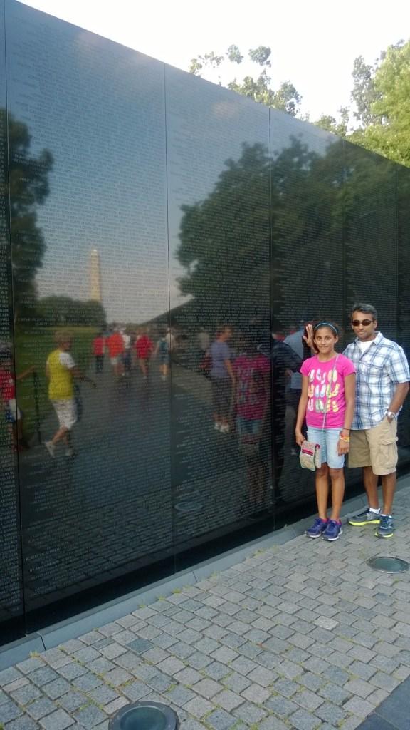 At the Vietnam War Memorial.
