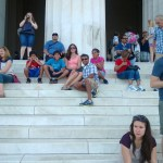 On the steps of the Lincoln Memorial