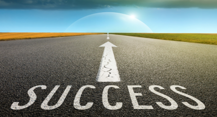 Success is this way!