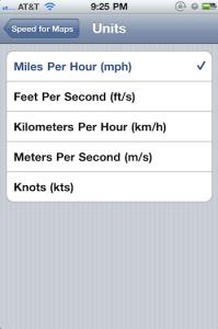 Speed for Maps Screenshoot schermata impostazioni