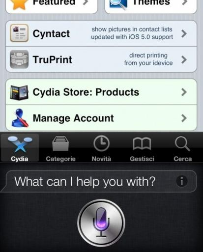 Cydia and SIRI