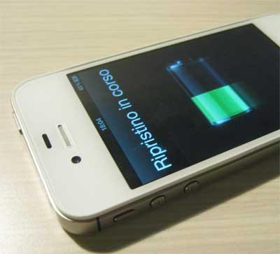 iPhone Ripristino in corso...
