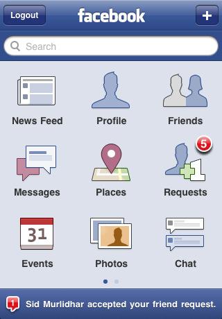 Facebook App iPhone 4