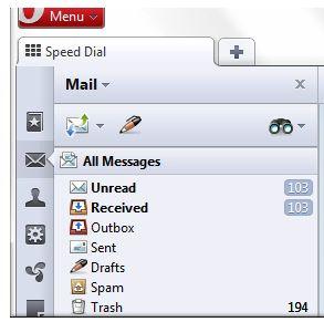 Opera 11 Mail Panel