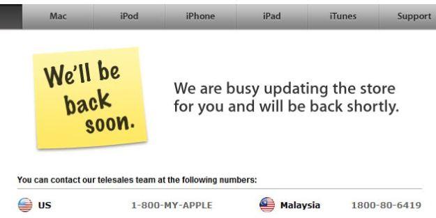 Apple Store Off-line