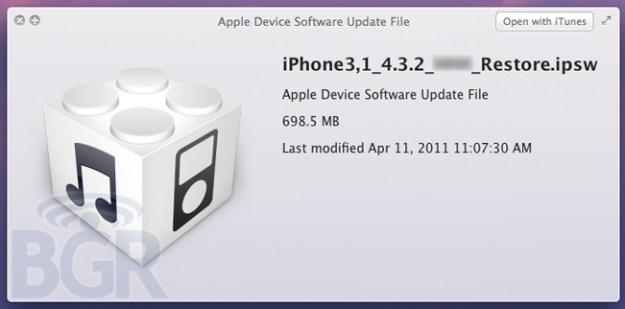 Apple iOS 4.3.2 Aggiornamento