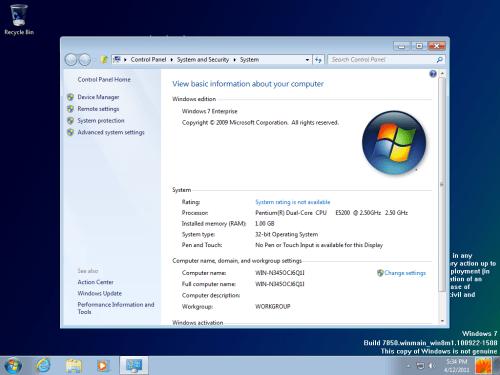 Windows 8 Milestone 1 Pannello Informazioni
