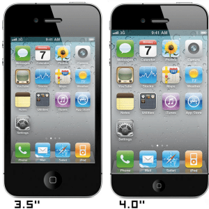 iPhone 5 Display maggiore Mockup