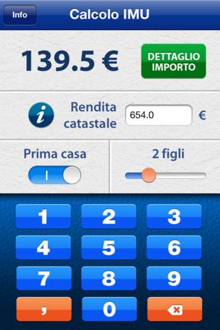 Recensione calcola IMU screenshoot