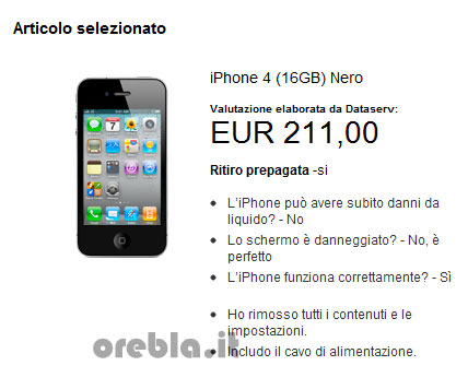 Apple valutazione iPhone riciclo