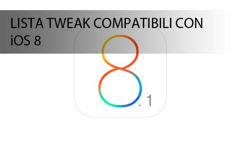 Jailbreak iOS 8 Cydia lista tweak compatibili!