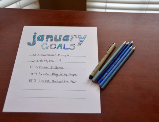My hand lettered January Goal Sheet is available for you download and color at your pleasure.