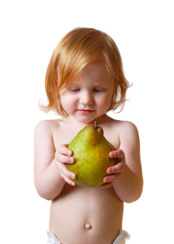 organic toddler with pear