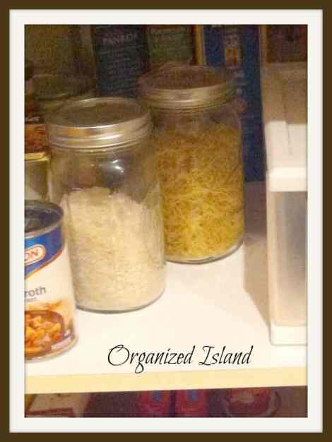 #mason jars #organization