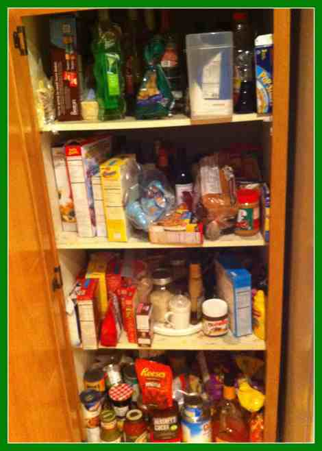 Pantry unorganized