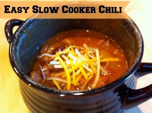 Slow Cooker Chili Recipe #BacktoSchoolWeek - Organized Island