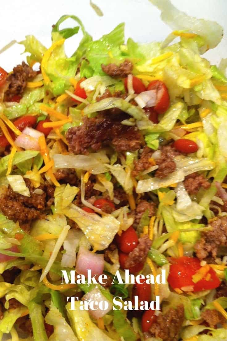 Make Ahead Taco Salad