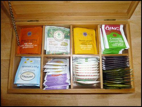 tea storage box with tea