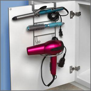curling iron holder over door