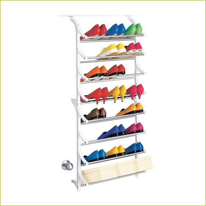 24 pair closet shoe rack - white