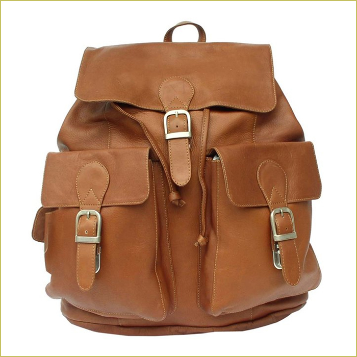 buckle backpack leather