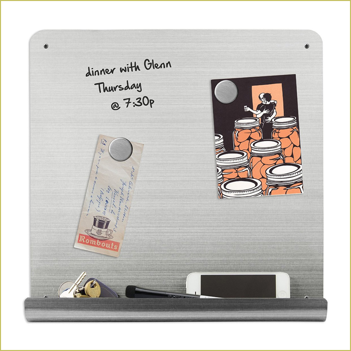 stainless steel dry erase bulletin board