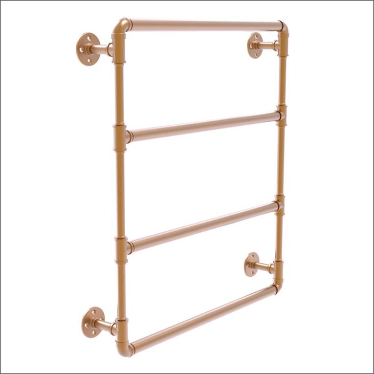 Industrial Pipe-Style Triple Ladder-Style Towel Rack