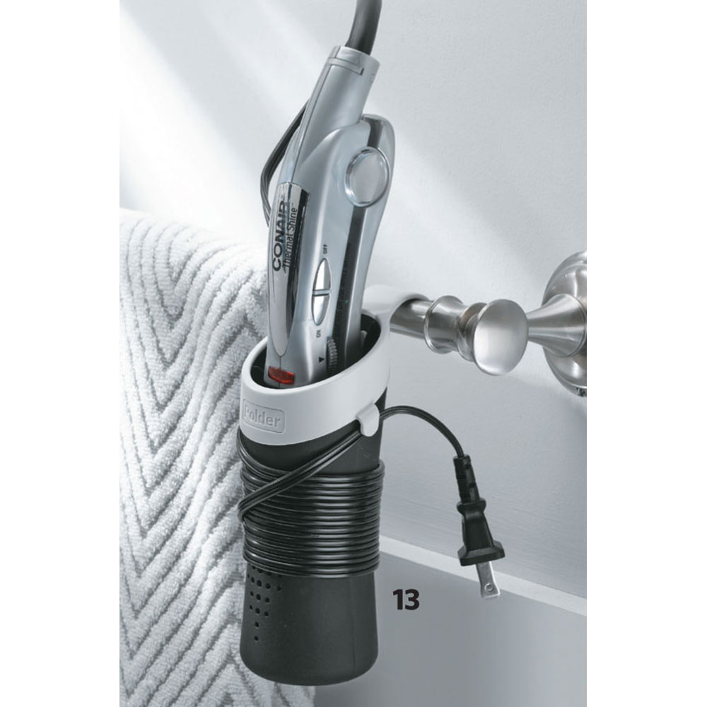 Enticing Click Any Image To View Hair Dryer Hers Curling Iron Her Pattern Curling Iron Her Bathroom Resolution Curling Iron Storage Rack Hot Sleeve Black houzz-03 Curling Iron Holder