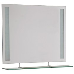 Small Crop Of Frameless Bathroom Mirror