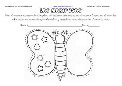 lateralidad y recortar mariposas 15