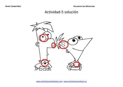 encuentra las diferencias dibujos animados 5