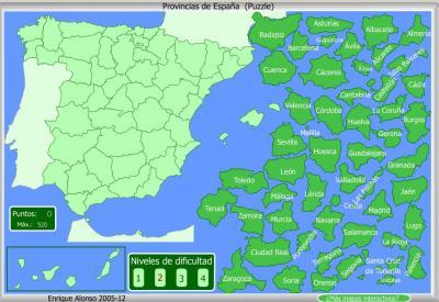 PROVINCIAS de España DIFICIL PUZZLE