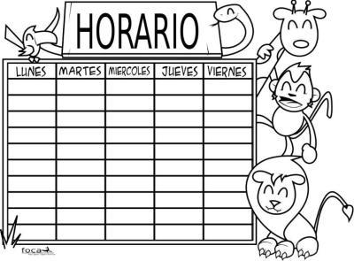 HORARIOS DIVERTIDOS FOCACLIPART 1