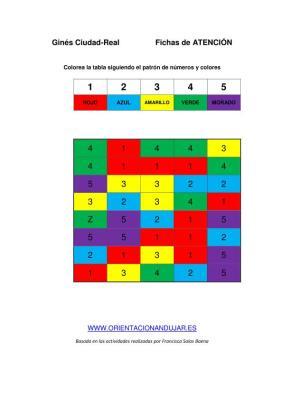 estimulacion cognitiva sigue el patrón de números y colores imagen
