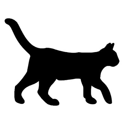 gato negro silueta