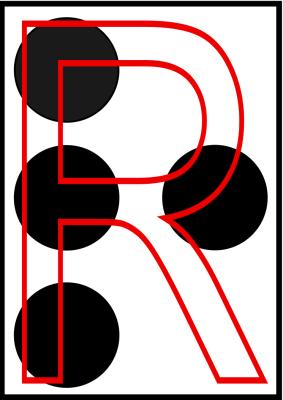 braille letra R