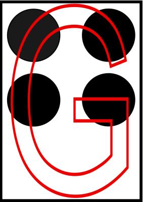 braille letra g
