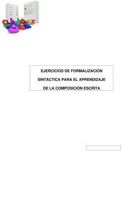 formalización sintáctica para el aprendizaje de la composición escrita portada