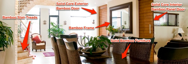 Applications for bamboo timber boards & plywood in the home