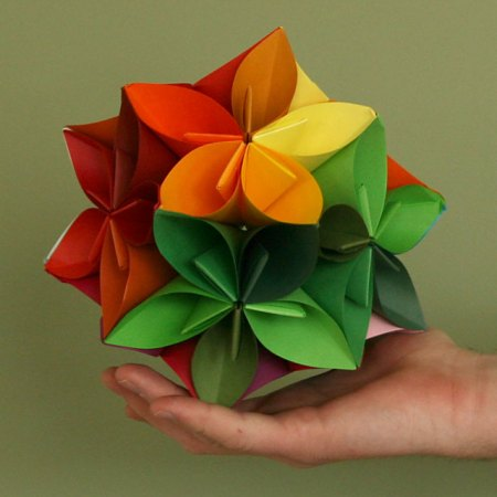 Color Wheel Kusudama
