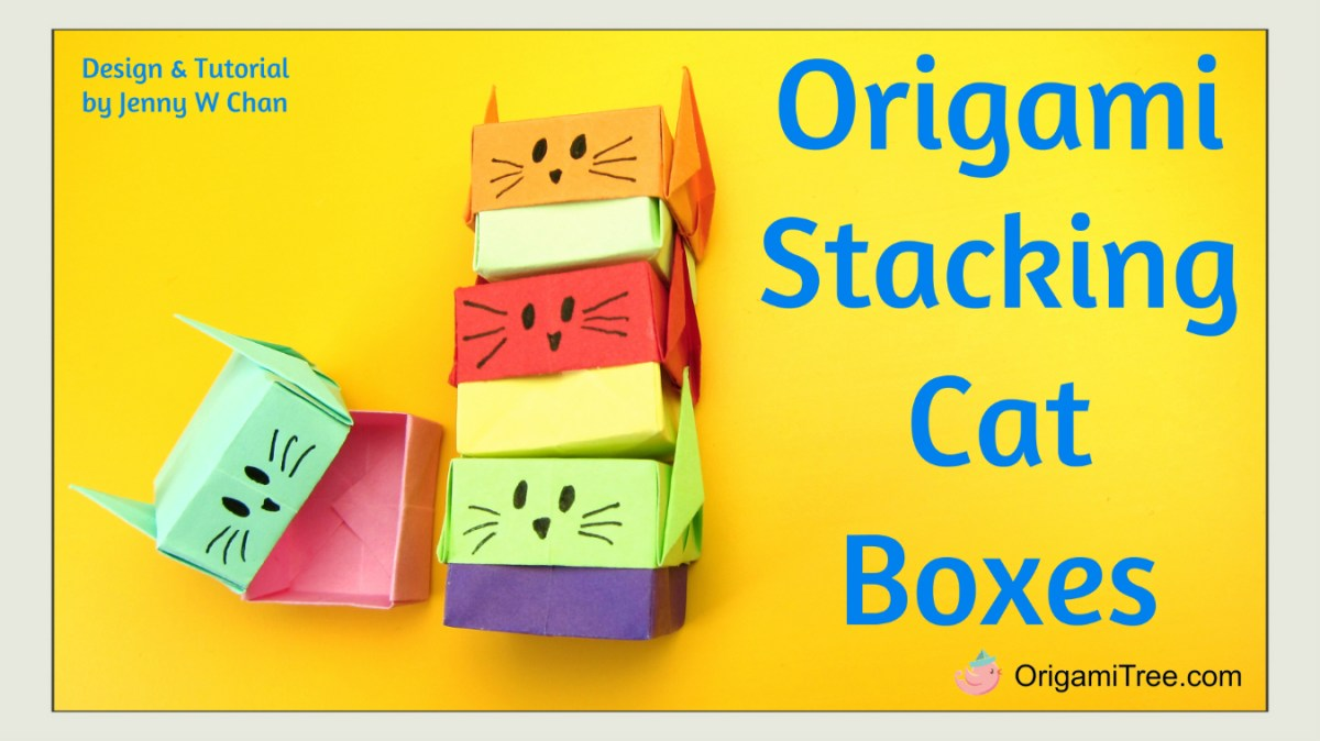 Origami Stacking Cat Boxes - Gift Boxes