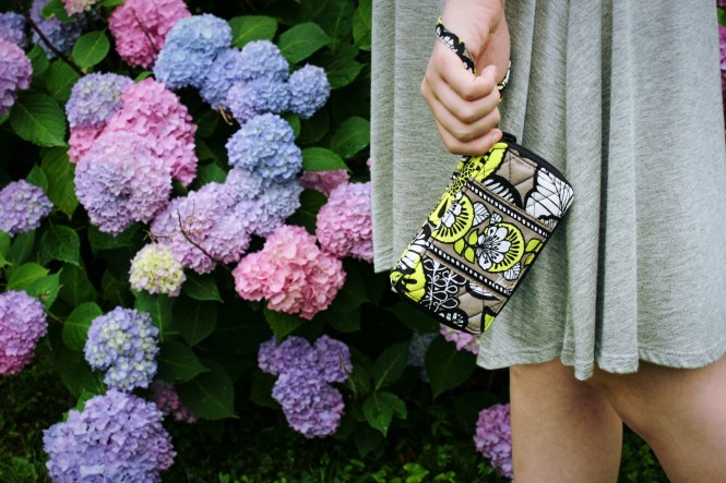 Meet Me At The Farmer's Market. Close up of Vera wristlet.