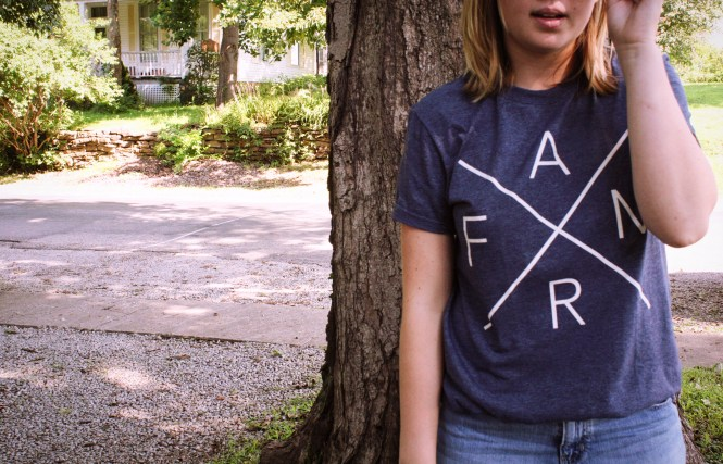 Farming For Good. How to style a simple tee shirt.