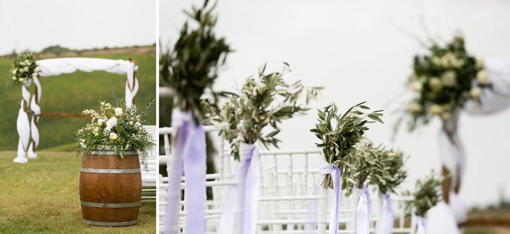 garden decoration wedding italy
