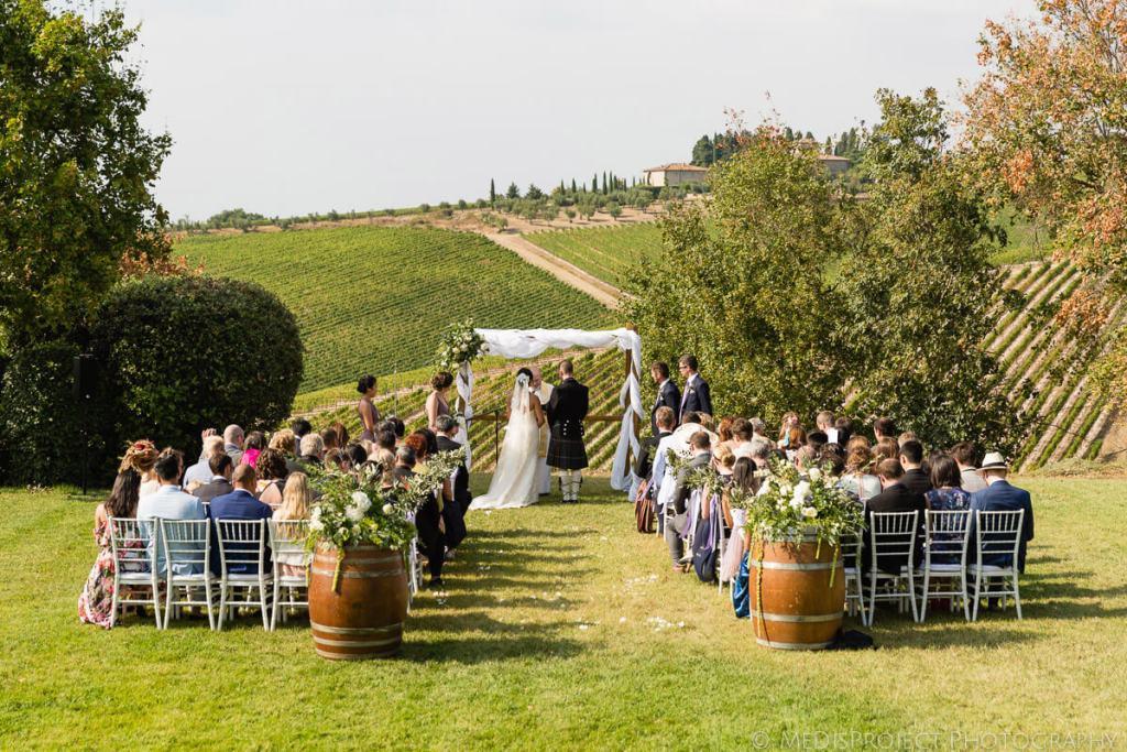 Alicia & James Tuscan winery wedding