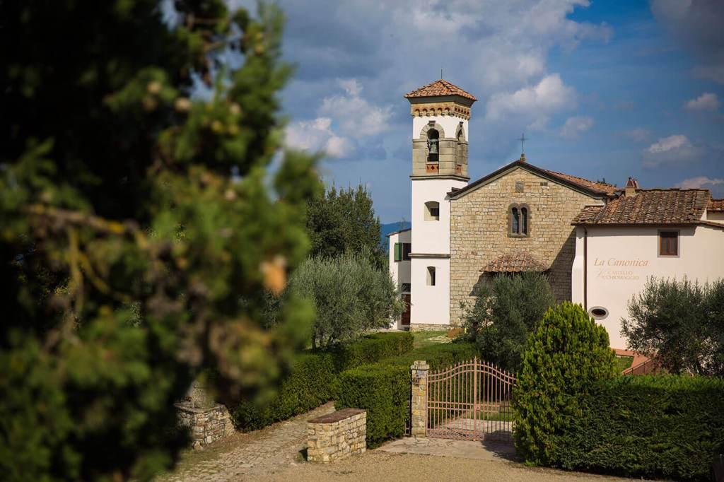 View of La Canonica Castello Vicchiamaggio