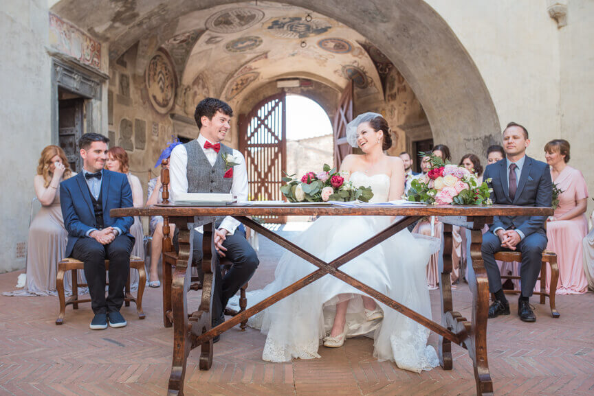 Claire & Mark civil wedding in Tuscany
