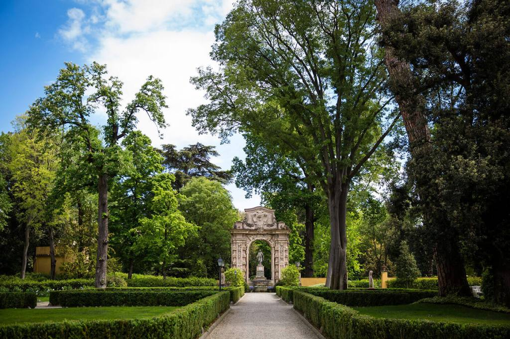 The Garden of Four Season Hotel in Florence